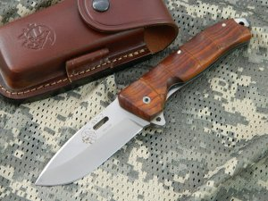 J & V Adventure Knives - SV 2 XL Liner Lock folder, Cocobolo