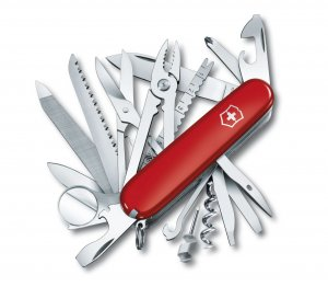 Victorinox Swiss Champ Medium Size Pocket knife, Red